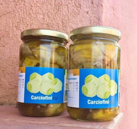 Carciofini sott'olio extravergine d'oliva bio